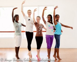 Michele Wiles and BVI Dance School Students